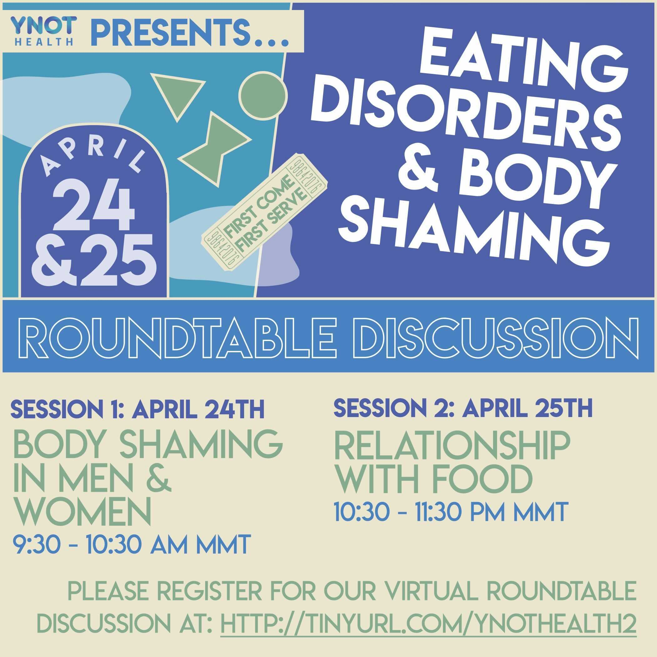 Roundtable Discussions: Eating Disorders & Body Shaming